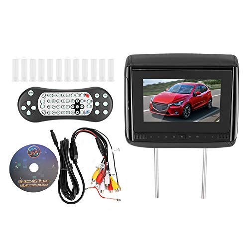 Reposacabezas Monitor-7 en el coche Reposacabezas Monitor Reproductor de video DVD Transmisor USB/IR/FM