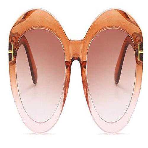 Gafas De Sol Polarizadas Gafas De SolClásicas paraMujer, Gafas De Sol Graduadas De Gran Tamaño Vintage, Gafas De Sol De Diseñador Mujer, Uv400, Té