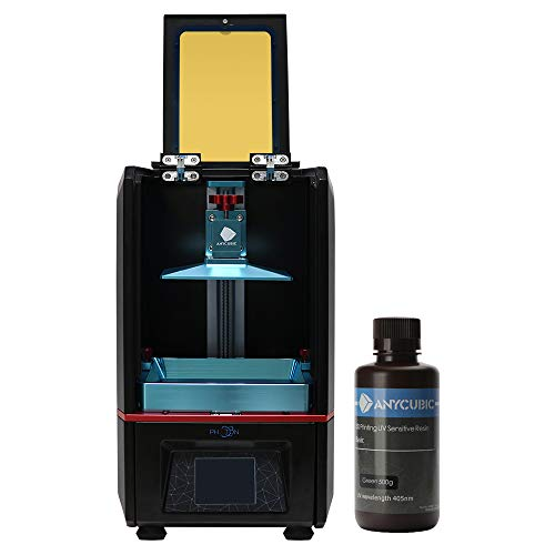 "ANYCUBIC Photon Stampanti 3D Printer with 2.8'' Smart Touch Color Screen Off-line Print 4.53""(L) x 2.56""(W) x 6.1""(H) Printing Size"