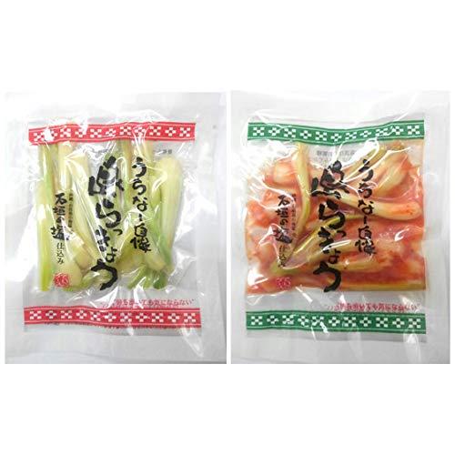 沖縄県産 島らっきょう塩漬けとキムチ 各50g 3セット でいごフーズ 石垣の塩仕込み シャキシャキの食感の島らっきょうとピリッとキムチ味の島らっきょう