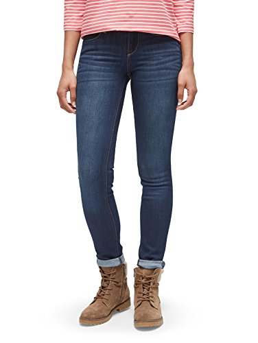 TOM TAILOR Damen Alexa Slim Jeans, Blau (Dark Stone Wash Denim 1053), 27W / 30L