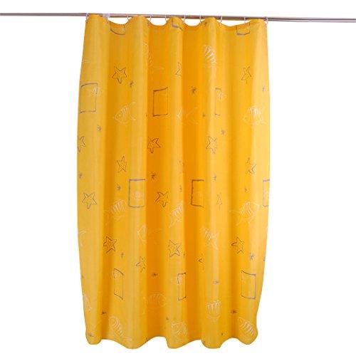 HuaForCity Duschvorhang 180X220 Anti-schimmel,Textil Bad Vorhang,Duschvorhang überlänge 220,duschvorhänge 180 x 220 Weich Polyester,Dicker MildewProof Waterproof Shower Curtain mit 12 Haken