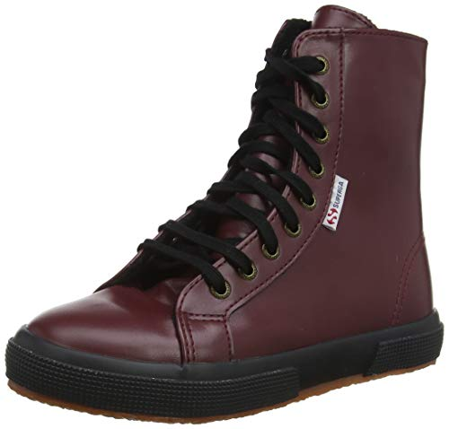 Superga Unisex-Kinder 2040-SYNFGLJ Stiefel, Rot (Red Bordeaux 083), 24 EU