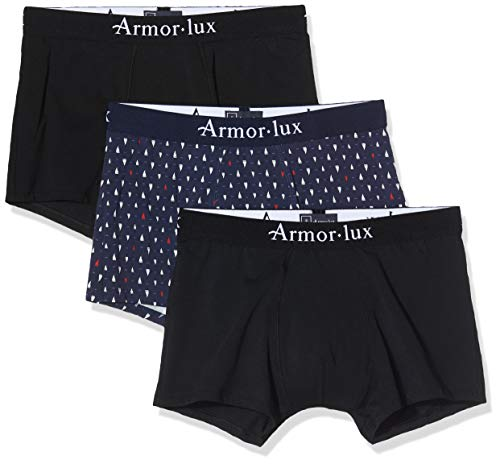 Armor Lux heren boxershorts (2 effen + 1 bedrukt)
