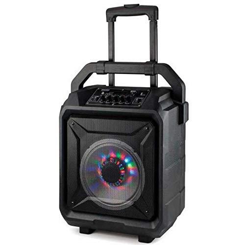 Daewoo Electronics - Altavoz Inalámbrico - Daewoo Dsk-395 Altavoz Troley Karaoke, 40W, Radio FM, Bluetooth, Negro