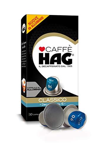 Hag - Capsule Caffè Decaffeinato Espresso Classico - Compatibili con Macchine Nespresso® - 100 Capsule in Alluminio - Intensità 12