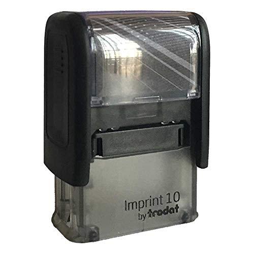 Timbro Autoinchiostrante con testo PAGATO Imprint 10 - mm. 26X10
