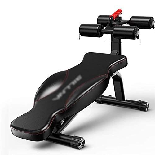 HAOYF Sit-Ups Fitnessgerät Multifunktionale Hantelbank Indoor Trainingsgerät Bauchtrainingsgerät Einstellbare Hantelbank (Farbe: Schwarz, Größe: 134 x 38 x 113 cm)
