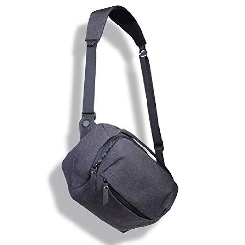 yunyu Sling Camera Bag/SLR/Mirrorless Case 5L Crossbody Mochila con Correa de Hombro Ajustable Impermeable (Color: Gris), Mochila Ultraligera Plegable