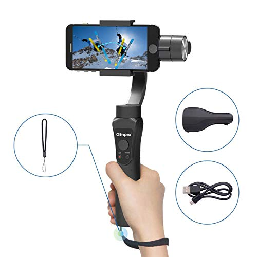 Gimpro Stabilisateur Smartphone Gimbal 3-Axes Handheld pour Mobile Phone Téléphone pour iPhone Android Action Camera GoPro 7/6/5/4/3+