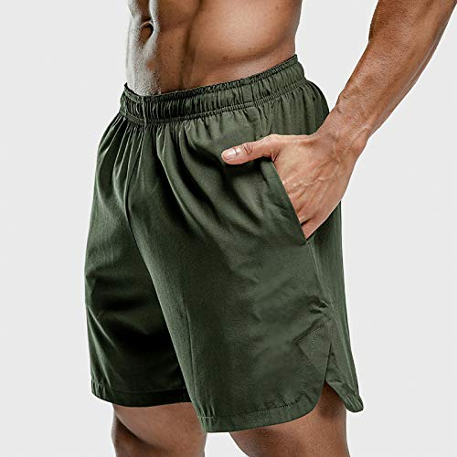 NXWL Men's Quick-Dry Lightweight Pace Running Shorts,Verde,S