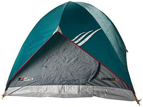 NTK Tienda de Campaña Resistente 100% Impermeable para 3 a 4 Personas Acampada al Aire Libre y Senderismo Tamaño 210 x 210 x 135 cm - Cherokee GT 3/4
