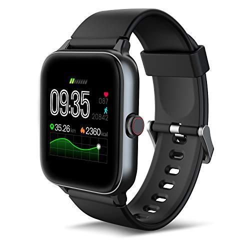 IOWODO R3Pro Smartwatch Donna Uomo Orologio Fitness 1,54'' Full Touch Impermeabil IP68 Cardiofrequenzimetro Contapassi Cronometro modalità Nuoto Activity Tracker Smart Watches per Android iOS