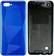 Mozomart® Battery Door Back Panel Housing Body with Logo Compatible for Realme C2 : Blue