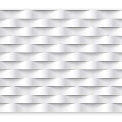 murando Papier peint intissé 400x280 cm Décoration Murale XXL Poster Tableaux Muraux Tapisserie Photo Trompe l'oeil Abstraction blanc 3D f-B-0060-a-a