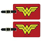 Wonder Woman Classic Logo Luggage ID Tags Suitcase Carry-On Cards - Set of 2
