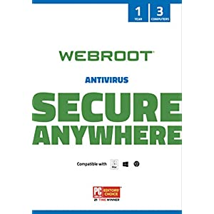 Webroot Antivirus Protection and Internet Security Software 2021 - 3 Device, 1 Year Subscription (PC/Mac Keycard)