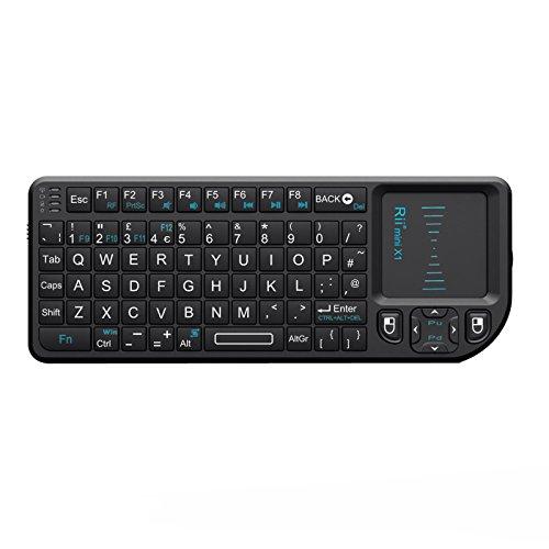 Rii K01X1 2.4 GHz Mini Wireless Keyboard with Mouse Touchpad Remote Control KODI XMBC Remote