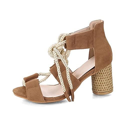 TER Zapatos para Mujer Zapatos de cuña Transpirables Tacones Altos para Mujer...