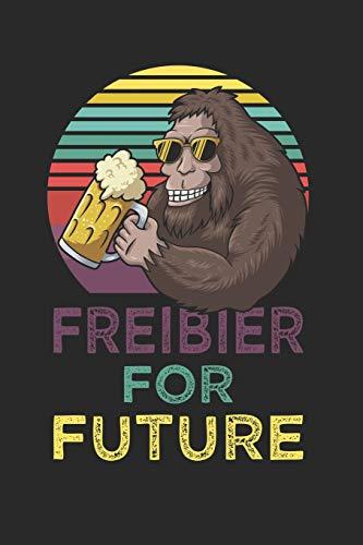 Freibier for Future: Kalender Monatsplaner Familienplaner Planer A5 I Tagebuch I Bier I Bierliebhaber I Biertrinker I Freibier I Gorilla I Affe
