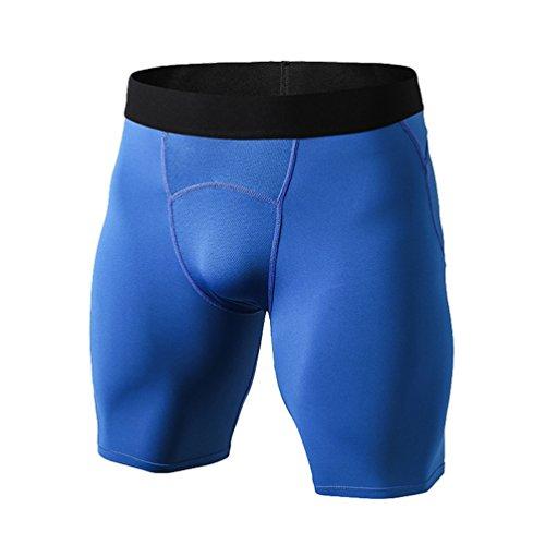 Byqny Deporte Leggins Jogging Pantalones Cortos de Capa Base de Compresión para Hombres con Función de Secado Rápido Mallas