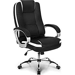 Neo Chair Office Chair Computer Desk Chair Gaming - Ergonomic High Back Cushion Lumbar Support with Wheels Comfortable Black Leather Racing Seat Adjustable Swivel Rolling Home Executive