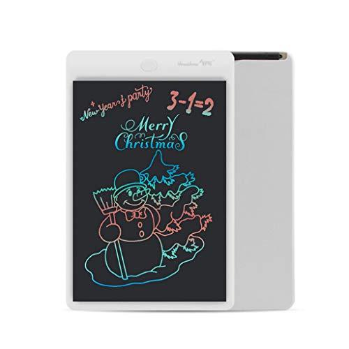 Y56 10 Inch LCD Schreibtablett Elektronisches Schreiben Doodle Zeichenbrett Kinder Junge Mädchen Writing Tablet Schreibtafel Digitaler Grafiktabletts Drawing Pad (Weiß)