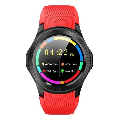 Reloj inteligente DOMINO DM368 PLUS de 1,3', pantalla IPS (1 GB + 16 GB, compatible con monitoreo de frecuencia cardíaca, podómetro, modo multideportivo, tarjeta de llamada independiente (rojo)