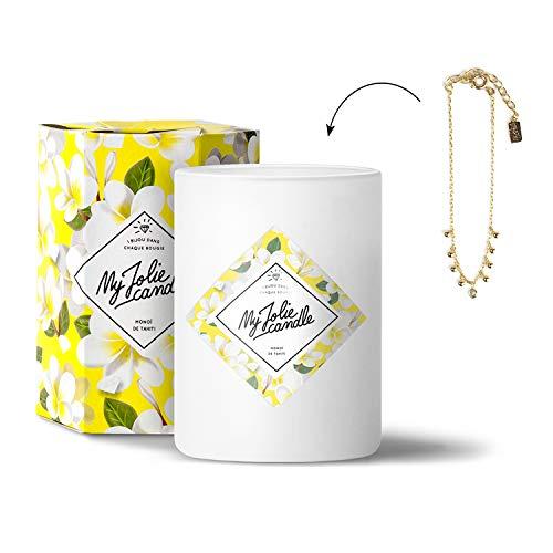 My Jolie Candle • Vela perfumada con Joya en el Interior • Pulsera Dorada - Perfume de Monoi de Tahití