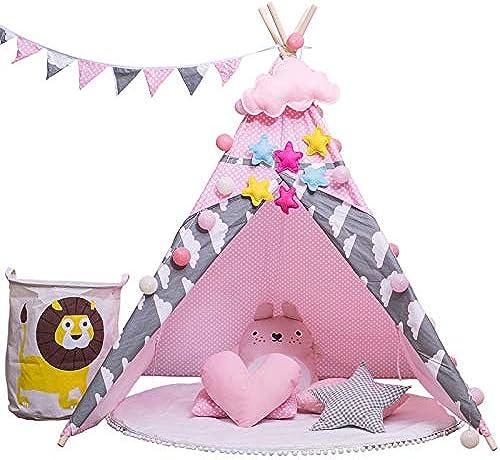 swqhieiing Kinderzelt Spielhaus Indoor Zelt Indoor Prinzessin mädchen Baby Zelt Raum Leseecke