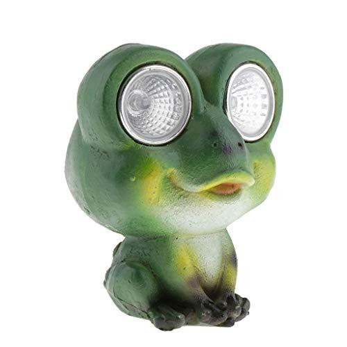 VANKOA Solarbetriebene Gartenleuchten Frosch Geformt Statue Laterne LED Weg Licht Lampe