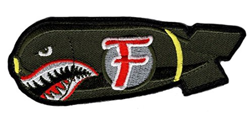 Dropping F Bomb WW 2 Style Patch [4.25 x 1.25 inch - Hook Fastener Backing]