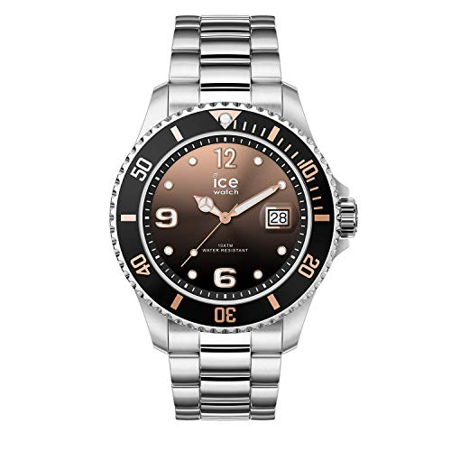 Ice-Watch - ICE steel Black sunset silver - Reloj soldi para Mujer con Correa de metal - 016768 (Medium)