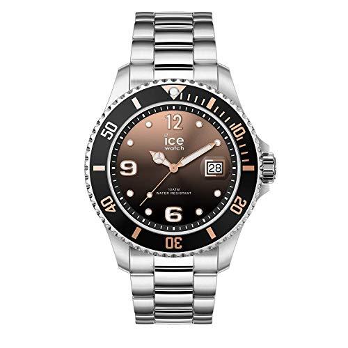 Ice-Watch - ICE steel Black sunset silver - Silbergraue Damenuhr mit Metallarmband - 016768 (Medium)