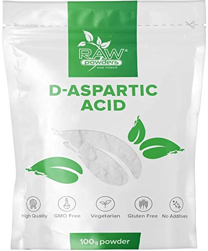 D Asparaginsäure Pulver 100g (D Aspartic Acid, DAA) - Testosteron Booster Für Männer, Sperma Booster, Anabolika Muskelaufbau