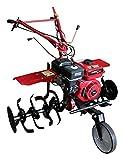 Bricoferr BFW500510 Motoazada con transmisión Engranajes, Motor 7hp, Ruedas 5.00X10, Cuchillas y asurcador Incluso, Rojo Y Negro