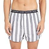 Calvin Klein Slim Fit Boxer 3pk, Negro (Level Stripe/Black/Field Plaid Les), M para Hombre