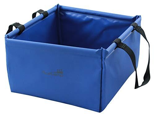 AceCamp 5 Liter Outdoor Faltschüssel, Faltbare Camping Waschschüssel aus langlebigem Vinyl, Platzsparend und Leicht, Blau, 1721