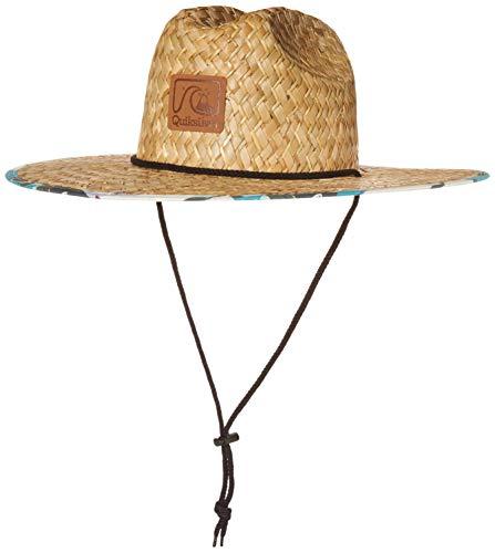 Quiksilver Men's Lifeguard Beach Sun Straw Hat, Fjord Blue Outsider, L/XL