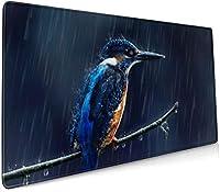 一般的なカワセミ鳥雨枝動物 大型ゲーミングマウスパッド光学式マウス対応滑り止め防水耐久性 キーボードパッド オフィス 900 X 400