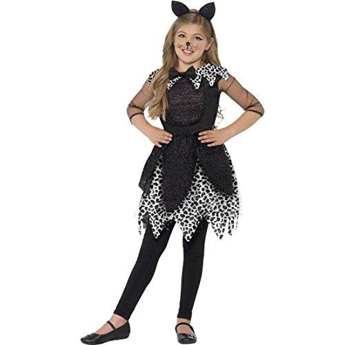 NET TOYS Katzenkostüm Kinder Katzen Kostüm M 7-9 Jahre 128-140 cm Katze Kinderkostüm Katzenkleid Faschingskostüm Kätzchen Halloweenkostüm Kitty Cat Tierkostüm Mädchen Kostüme Fasching
