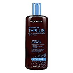 in budget affordable True + Real Therapeutics Plus Tar Gel Anti-Dandruff Shampoo, 16 ounces.