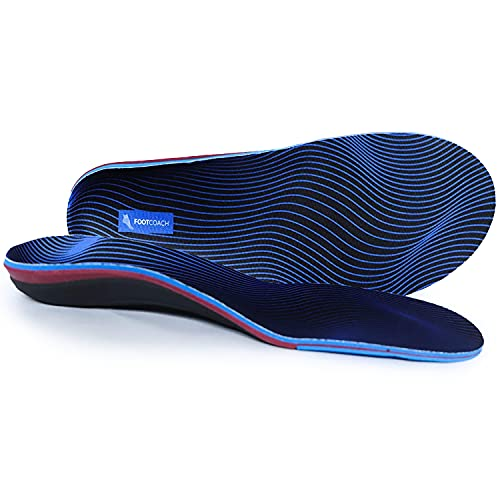 Foot Coach Orthotic Shoe Insoles for Men & Women - Maximum Arch Support, Natural Pronation Support & Plantar Fasciitis Relief - Perfect for Running, Walking, Workout, Flat Feet