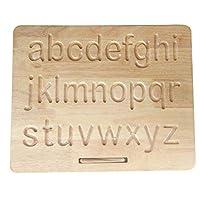 プリントアルファベット木製トレースボード 小文字 - 木製ギフト - 誕生日ギフト - キッズギフト - モンテッソーリギフト - クリスマスギフト