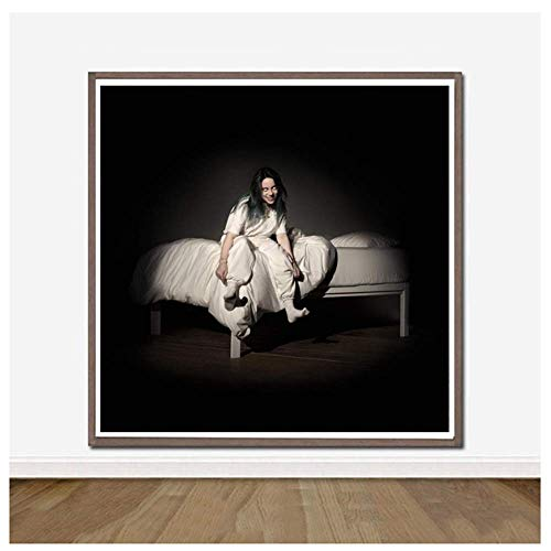 When We All Fall Asleep Where Do We Go Music Album Cover Poster And Prints Canvas Painting Art Wall Home Decor -50x50cm No Frame
