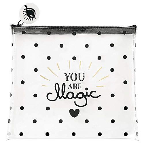 Tasche Täschchen YOU ARE MAGIC aus transparentem PVC von Miss Etoile