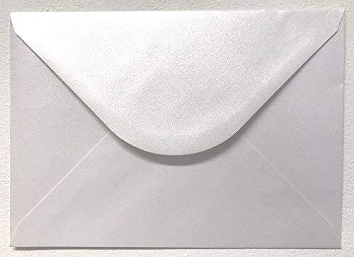 Cranberry - Buste da lettera formato C5, 162 x 229 mm, grammatura 120 g/m², color bianco perlato, 100 pezzi