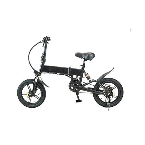 Bicicleta Eléctrica Rider Pro S9 Plegable E-Bike LED 25km/h Pedaleo asistido e Bike (Negro)