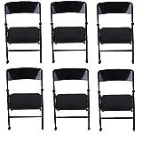 YUANYUAN 6 Pcs 1/6 Scale Dollhouse Folding Chair Miniature Furniture Folding Chair Doll House Accessories