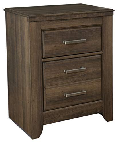 Ashley Furniture Signature Design - Juararo Nightstand - 2 Drawer - Rectangular - Dark Brown